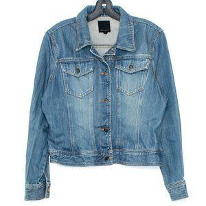 The Limited Jacket Jean Denim Button Up Large DX